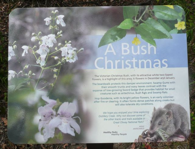 A Bush Christmas sign